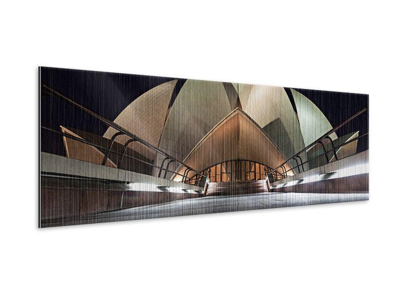 Metallic-Bild Panorama Der Lotus-Tempel