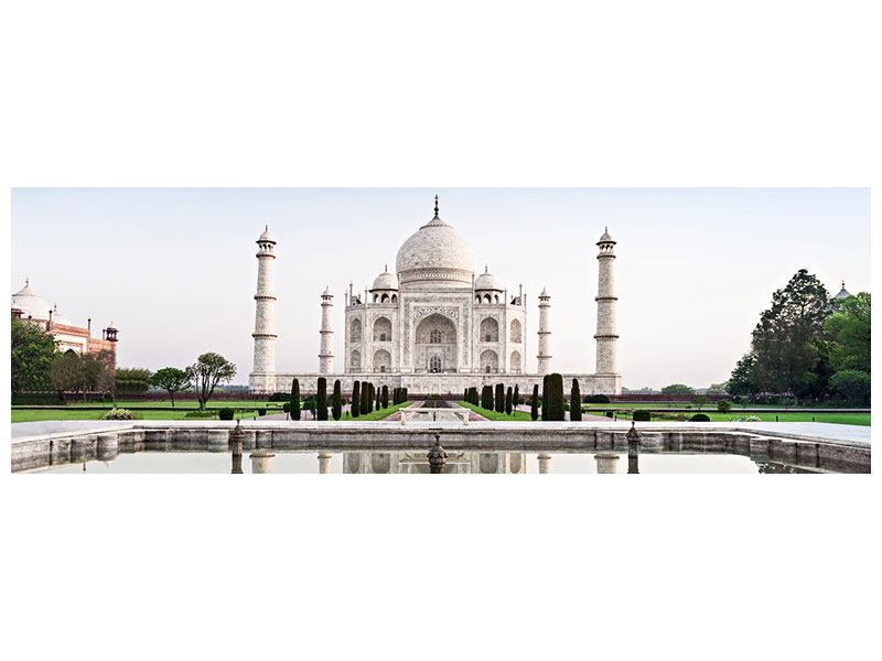 Metallic-Bild Panorama Taj Mahal