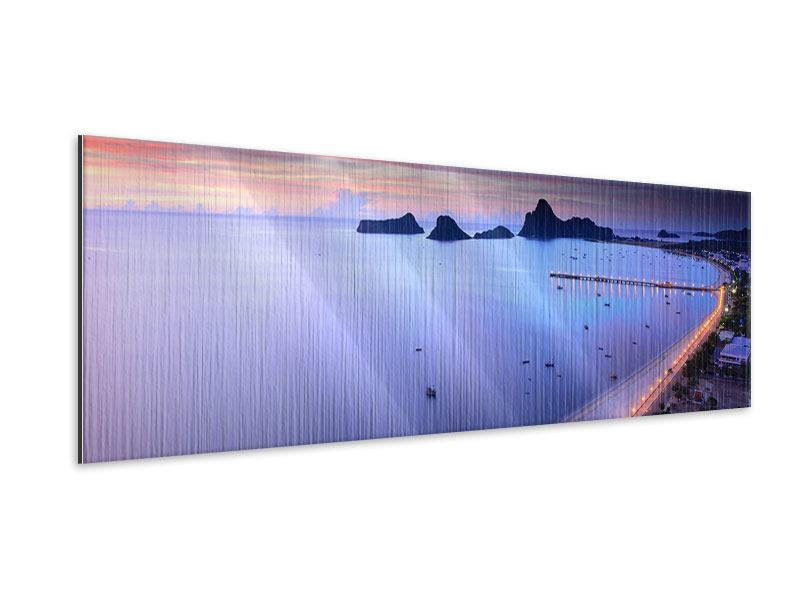 Metallic-Bild Panorama Ano Manao Bucht