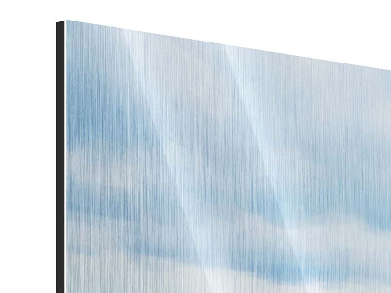 Metallic-Bild Panorama Ozean-Steg