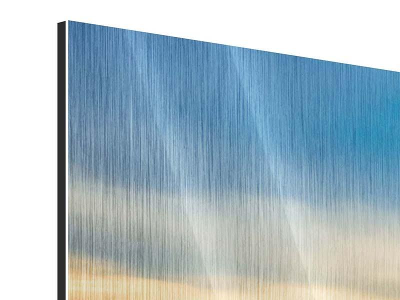 Metallic-Bild Panorama Brücke der Liebe