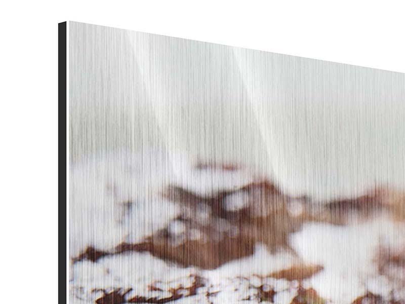 Metallic-Bild Panorama Perfektes Rindsfilet