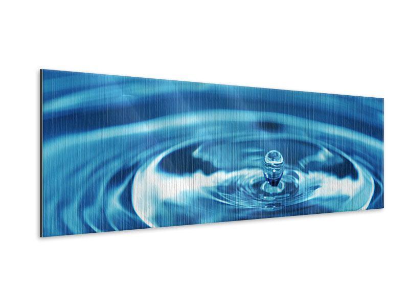 Metallic-Bild Panorama Der Wassertropfen