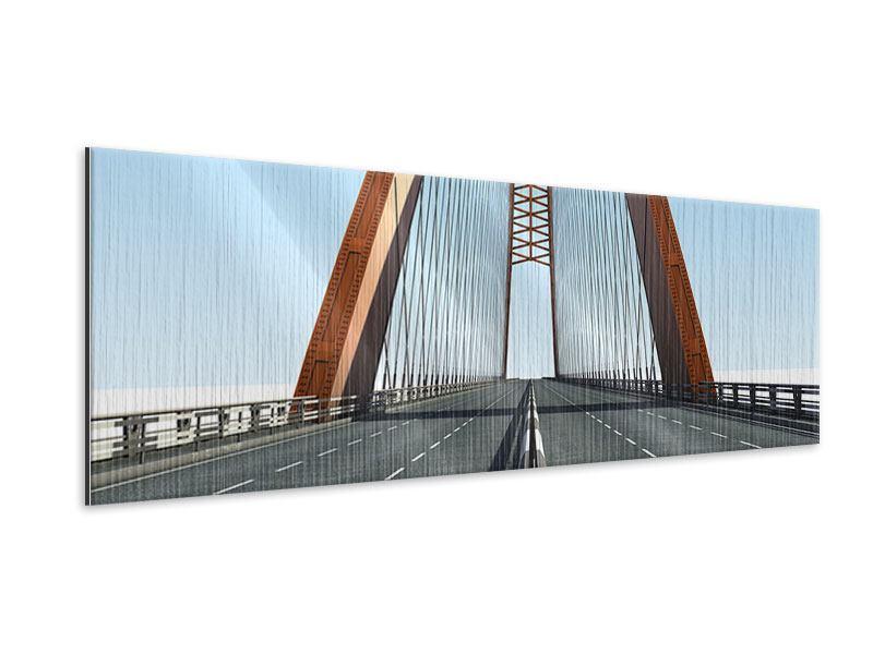 Metallic-Bild Panorama Brückenpanorama