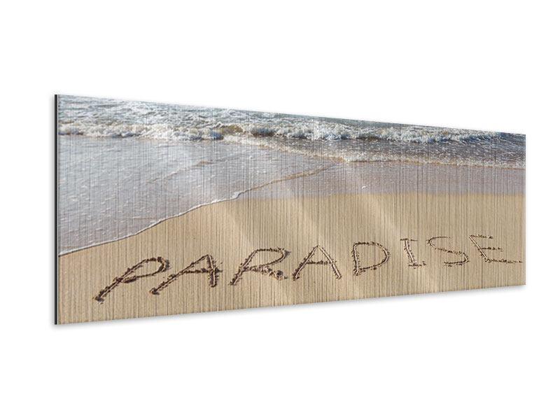 Metallic-Bild Panorama Sandspuren