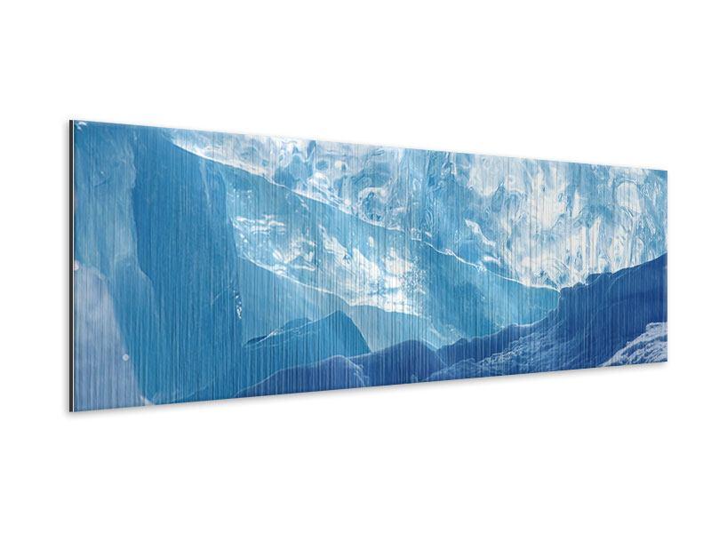 Metallic-Bild Panorama Baikalsee-Eis