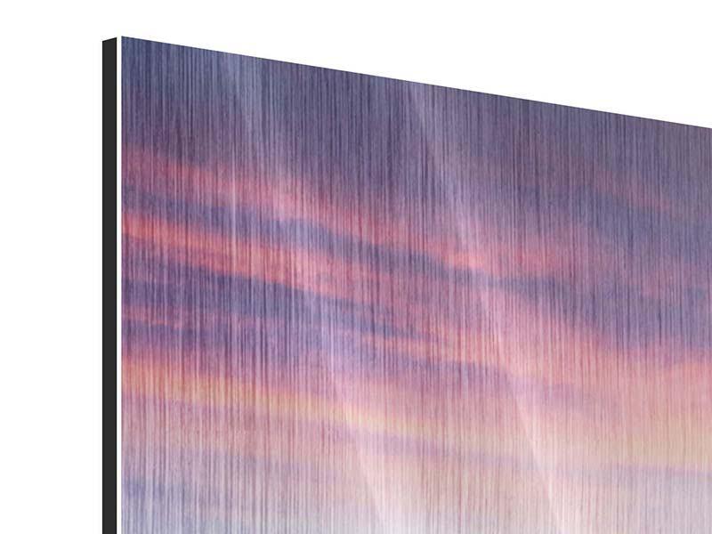 Metallic-Bild Panorama Winterlandschaft