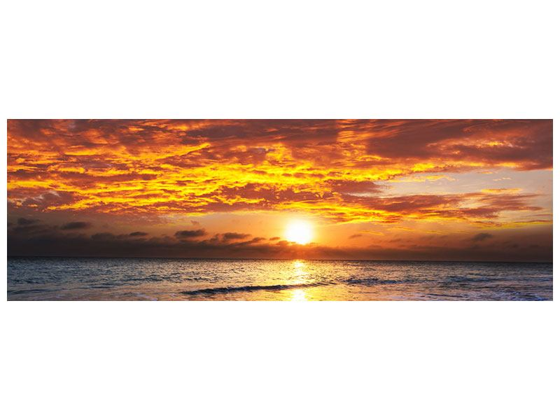 Metallic-Bild Panorama Entspannung am Meer