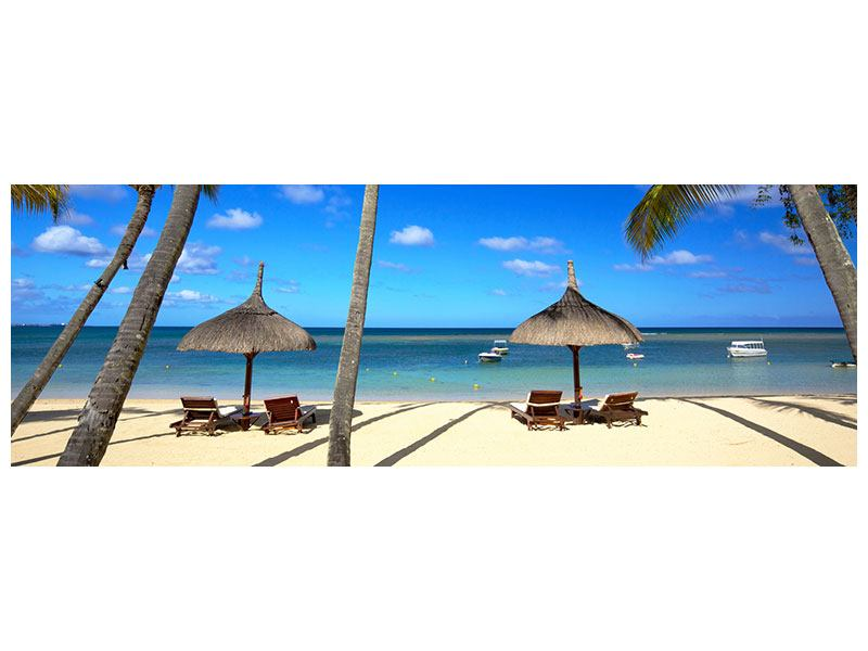 Metallic-Bild Panorama Mauritius