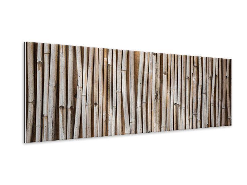 Metallic-Bild Panorama Getrocknete Bambusrohre