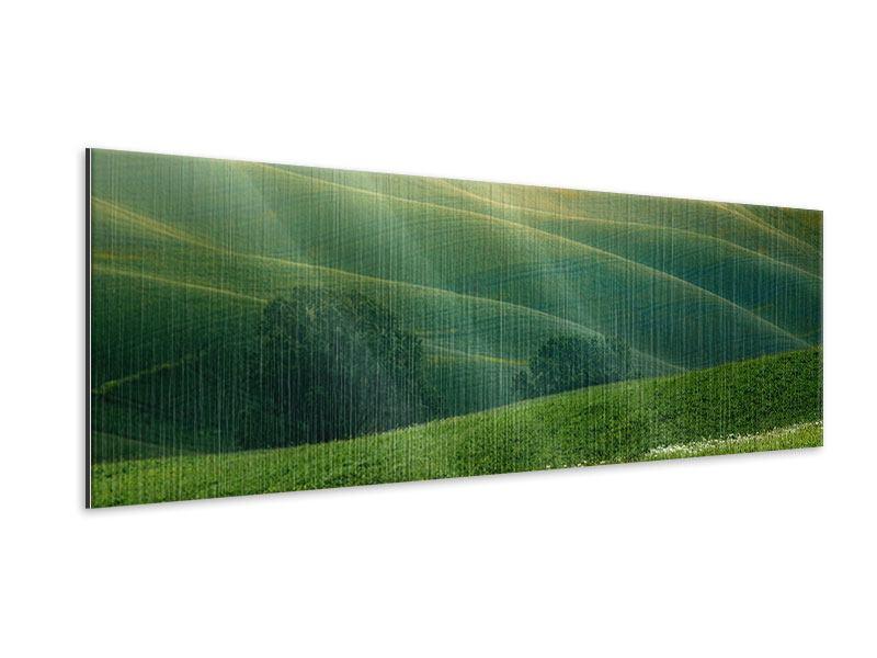 Metallic-Bild Panorama Toskana
