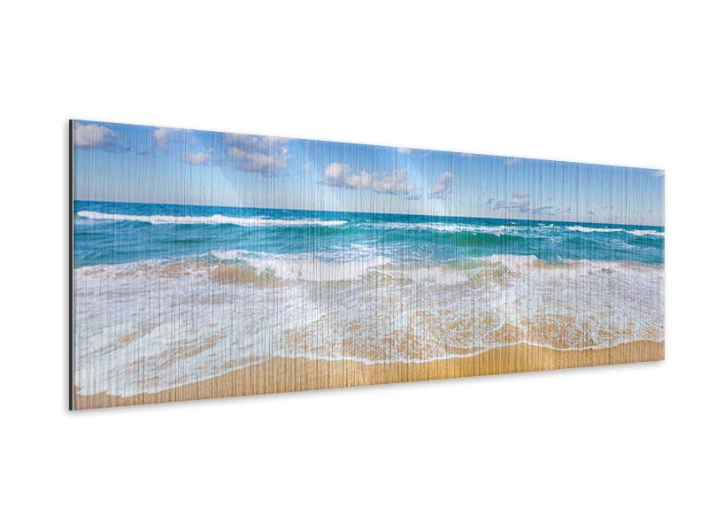 Metallic-Bild Panorama Die Gezeiten und das Meer