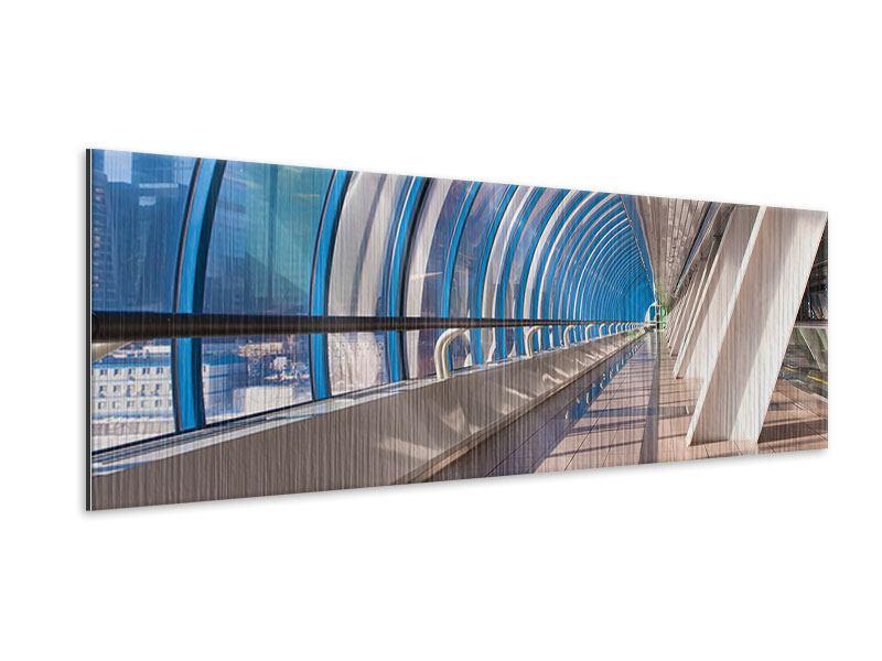 Metallic-Bild Panorama Hypermoderne Brücke