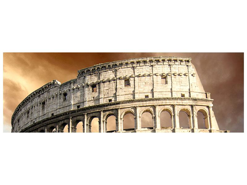 Metallic-Bild Panorama Kolosseum Rom