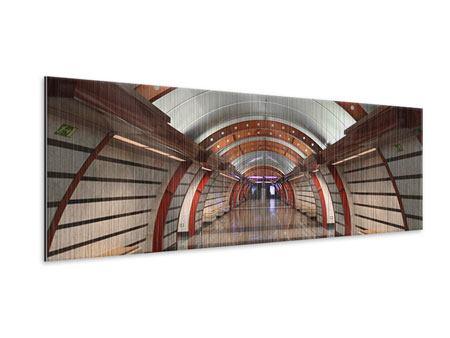 Metallic-Bild Panorama U-Bahn Station