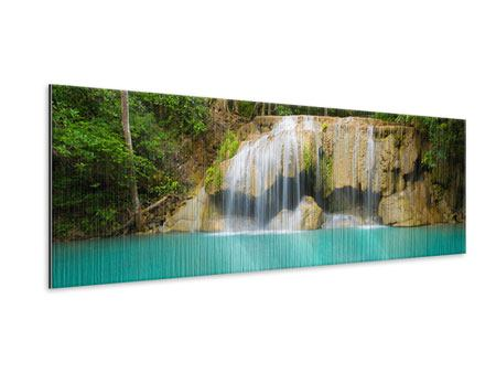 Metallic-Bild Panorama Frische Brise