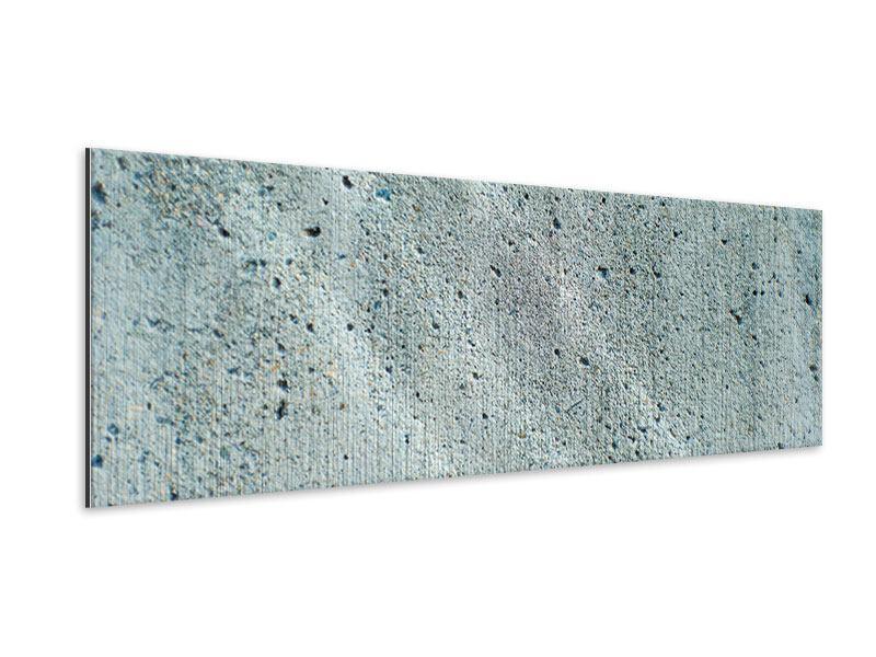 Metallic-Bild Panorama Beton in Grau
