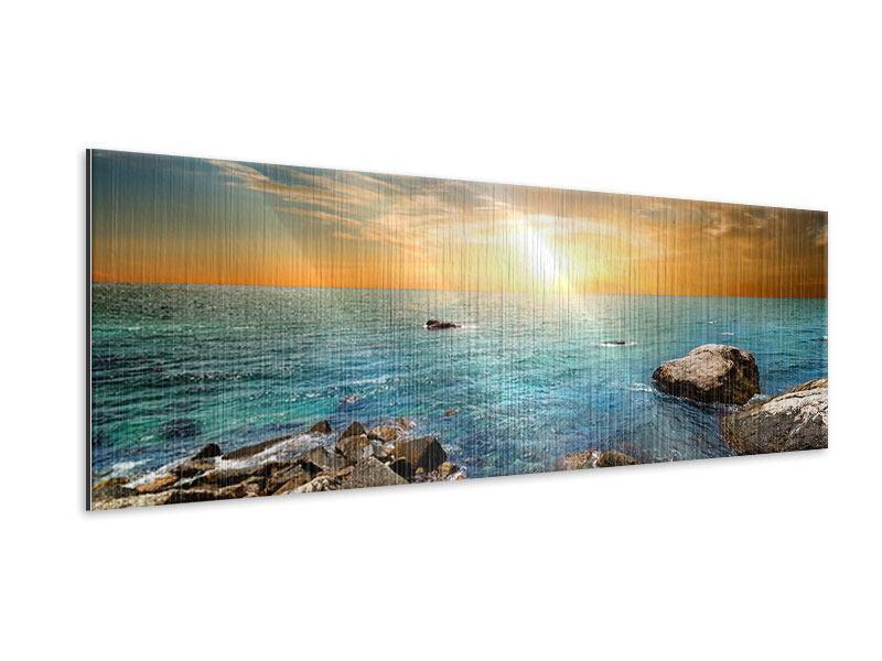 Metallic-Bild Panorama Meerwasser