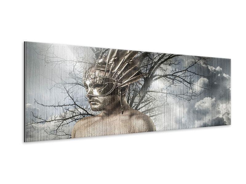 Metallic-Bild Panorama Gottheit