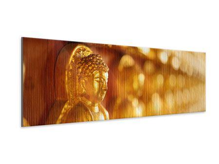 Metallic-Bild Panorama Buddhas
