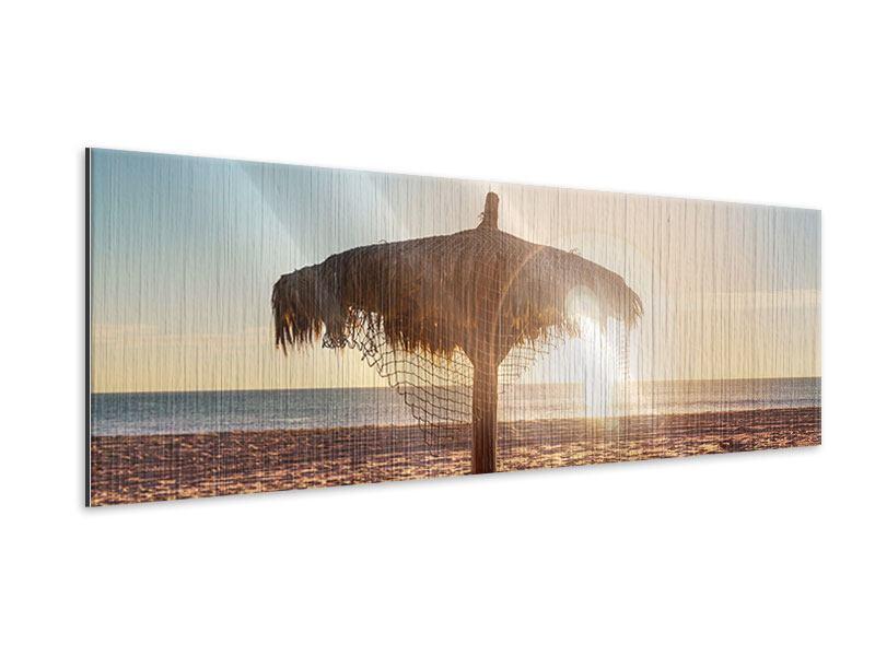 Metallic-Bild Panorama Der Sonnenschirm