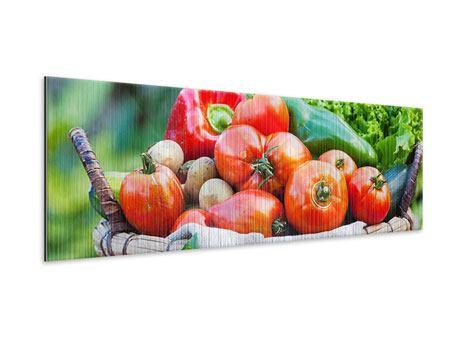 Metallic-Bild Panorama Gemüsekorb