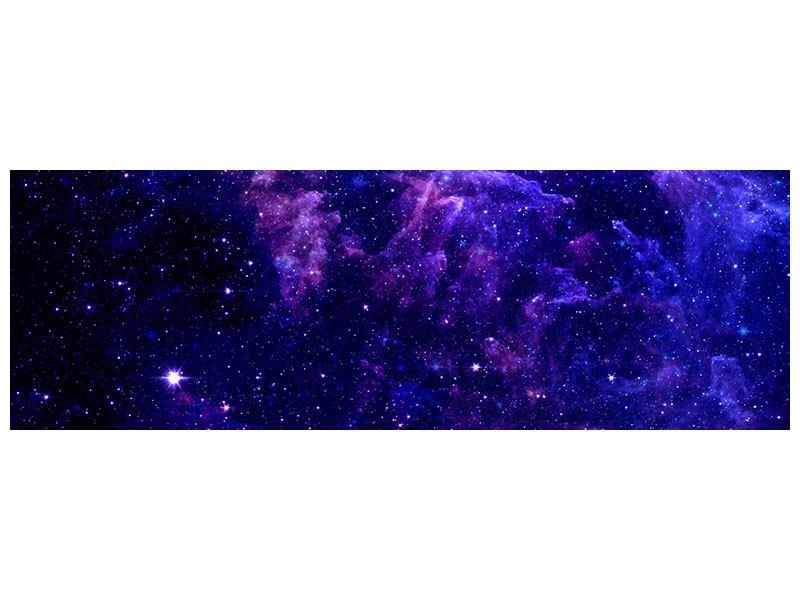 Metallic-Bild Panorama Ein Himmel voll Sterne