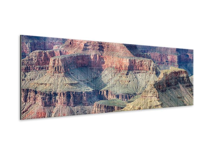 Metallic-Bild Panorama Gran Canyon