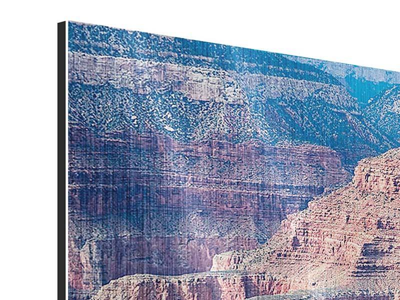 Metallic-Bild Panorama Gran Canyon