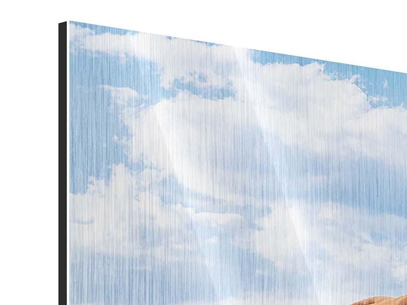 Metallic-Bild Panorama Auf der Alm