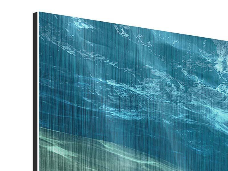 Metallic-Bild Panorama Unter dem Wasser