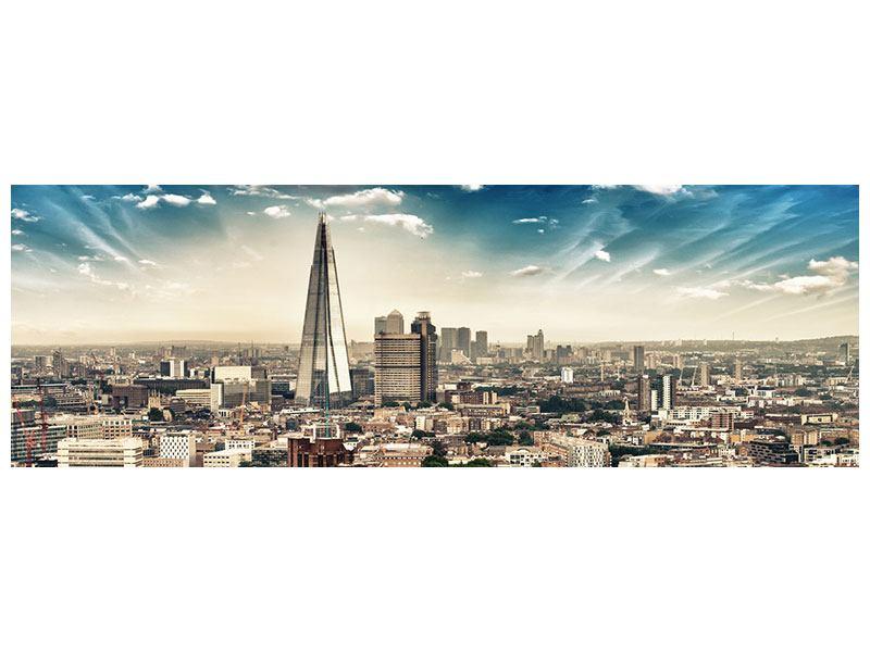Metallic-Bild Panorama Skyline Über den Dächern von London
