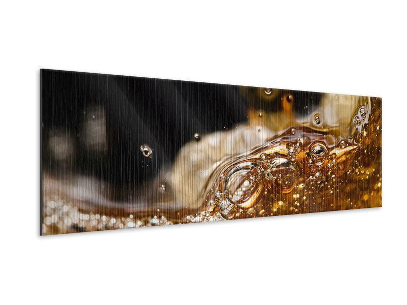 Metallic-Bild Panorama Cognac