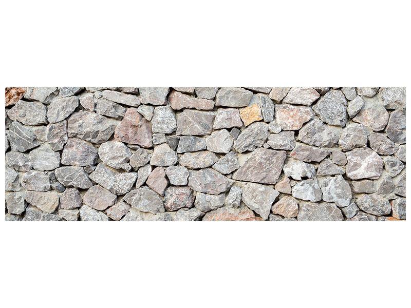 Metallic-Bild Panorama Grunge-Stil Mauer