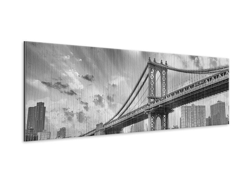Metallic-Bild Panorama Manhattan Bridge