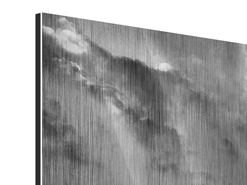 Metallic-Bild Panorama Manhattan Bridge