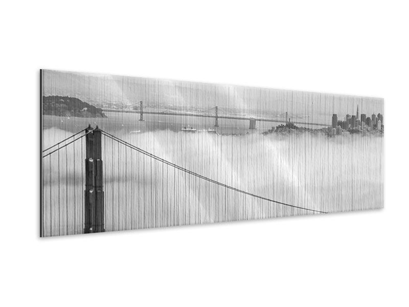 Metallic-Bild Panorama Golden Gate Brücke