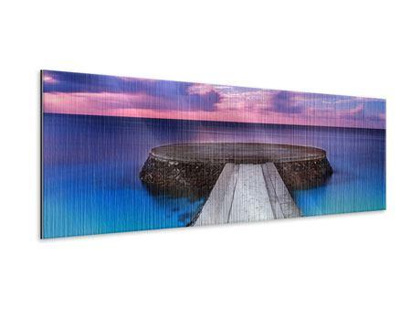 Metallic-Bild Panorama Meditation am Meer