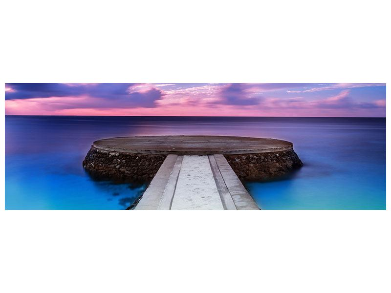 Panoramic Metallic Print Meditation By The Sea