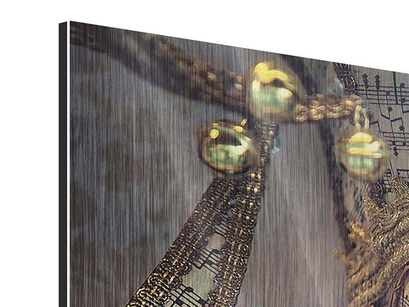 Metallic-Bild Panorama Venezianische Maske