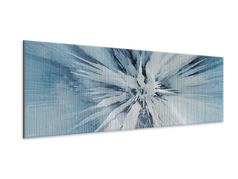 Metallic-Bild Panorama Eiskunst