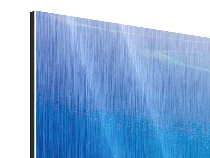 Metallic-Bild Panorama Reif für die Trauminsel