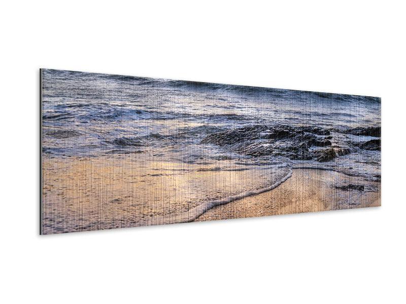 Metallic-Bild Panorama Das Meer