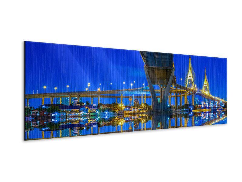 Metallic-Bild Panorama Bhumiboll-Brücke