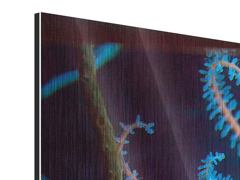 Metallic-Bild 3-teilig Aquarium