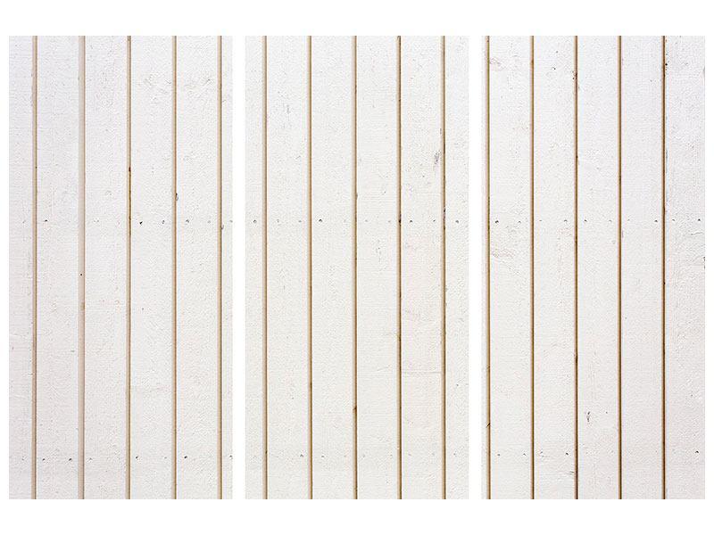 Metallic-Bild 3-teilig Mediterranes Holz