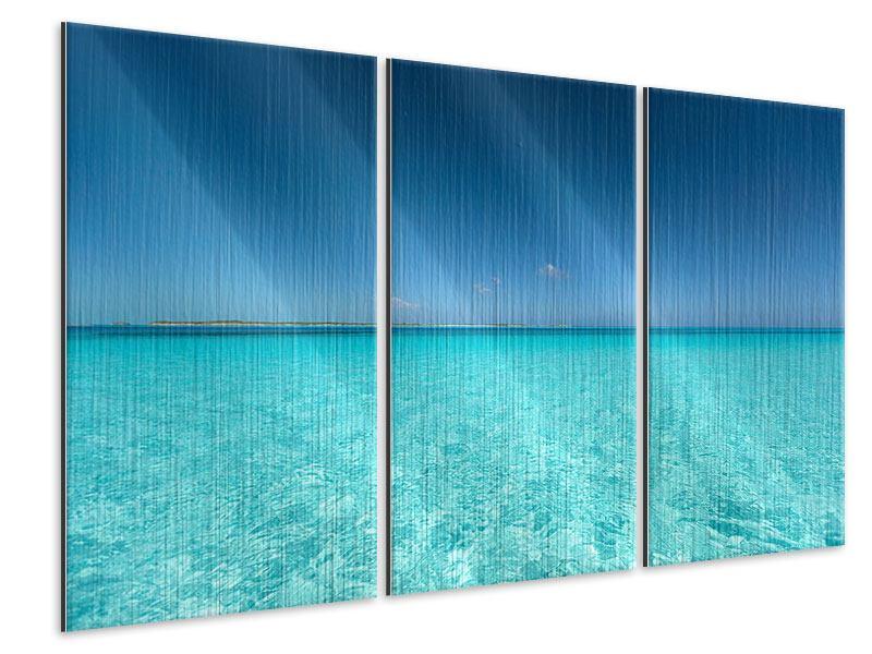 Metallic-Bild 3-teilig Das Meer und Jules Verne
