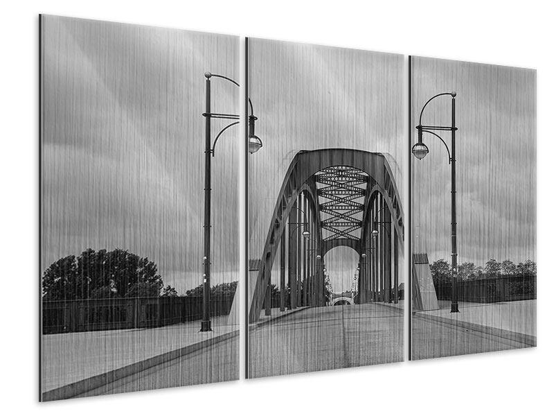 Metallic-Bild 3-teilig Poetische Brücke
