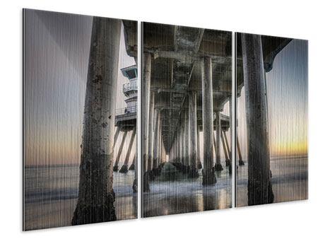 Metallic-Bild 3-teilig Brückenpfeiler