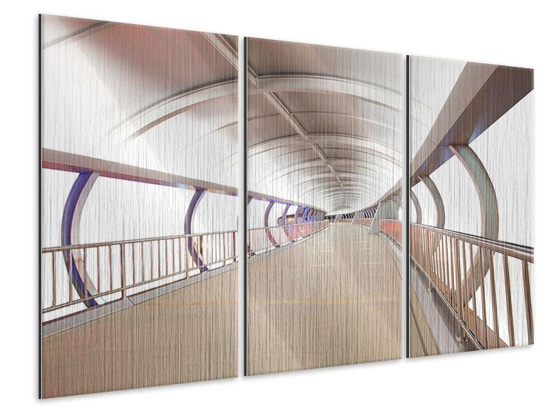 Metallic-Bild 3-teilig Brückenfeeling